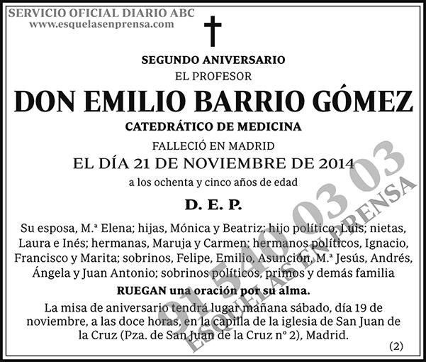 Emilio Barrio Gómez